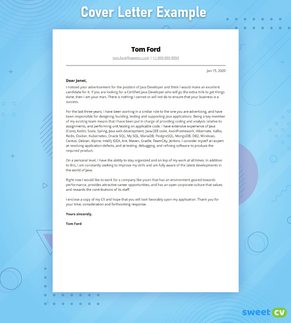 Do I Need A Resume Cover Letter from sweetcv.com